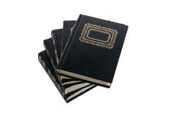 Livres noirs isoleted sur le blanc Photographie stock libre de droits