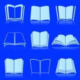 Livres ouverts de blanc photos stock