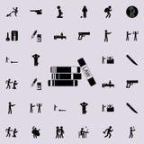 livres par l'icône de loi Ensemble détaillé d'icônes de crime Signe de la meilleure qualité de conception graphique de qualité Un illustration libre de droits