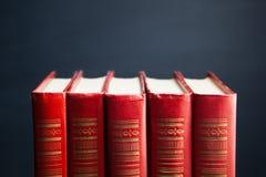 Livres rouges Photos libres de droits