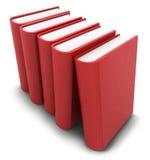 Livres rouges alignés Images libres de droits