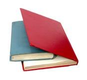 Livres rouges et bleus fermés Image libre de droits