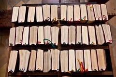 Livres saints de chant pour le vaisseau de guerre Image libre de droits