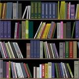Livres sur des étagères sans couture photographie stock libre de droits
