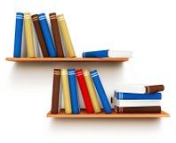 Livres sur l'étagère Images libres de droits