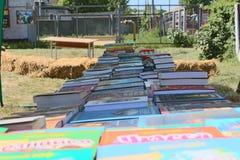 Livres sur le compteur - festival de culture en Ukraine Images libres de droits