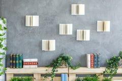 Livres sur le mur photos stock