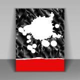 Livret avec des taches de peinture Photo stock