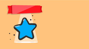 Livret avec l'image d'une étoile Récompense, certificat, prix ou carte postale de disposition Photos libres de droits