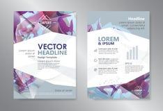 Livret d'insecte de brochure de magazine de conception d'abrégé sur polygone de calibre Photographie stock