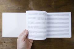 Livret de musique ou papier de notes Photographie stock