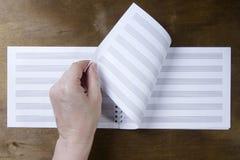 Livret de musique ou papier de notes Image libre de droits