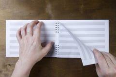 Livret de musique ou papier de notes Photographie stock libre de droits