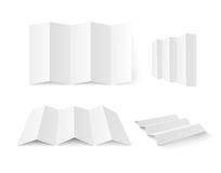 Livreto branco em branco ilustração stock