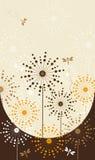 Livreto da flor com dentes-de-leão ilustração do vetor