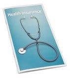 Livreto do seguro de saúde Imagem de Stock Royalty Free