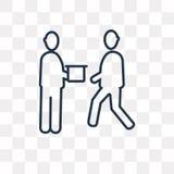 Livrez l'icône de vecteur d'isolement sur le fond transparent, linéaire illustration stock