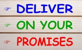 Livrez sur vos promesses image libre de droits