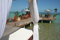 Livrez-vous à la plage de public de Boca Chica image libre de droits