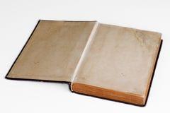 Livro/álbum de fotografias abertos velhos fotos de stock