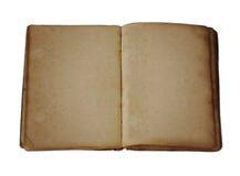 Livro aberto do espaço em branco antigo fotografia de stock