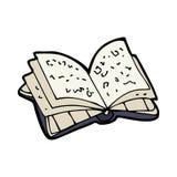 livro aberto dos desenhos animados Imagens de Stock Royalty Free
