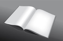 Livro aberto e vazio Imagem de Stock
