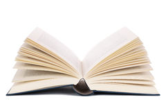Livro aberto, isolado no branco imagens de stock royalty free
