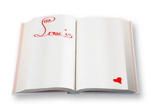 Livro aberto (o amor é) Imagens de Stock Royalty Free