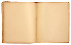 Livro aberto velho das páginas em branco Imagens de Stock