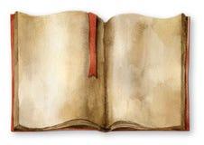 Livro. Aguarela ilustração stock