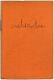 Livro alaranjado XXL do vintage Foto de Stock Royalty Free