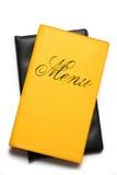 Livro amarelo do menu Imagem de Stock