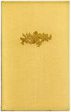 Livro amarelo XXL do vintage Fotos de Stock