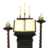 Livro antigo com velas 2 ilustração royalty free
