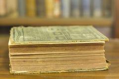 Livro antigo, fim acima Fotos de Stock Royalty Free