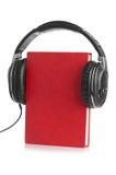 Livro audio no fundo branco fotografia de stock royalty free