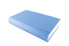 Livro azul fechado isolado em um fundo branco Foto de Stock Royalty Free