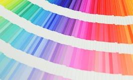 Livro bonito das amostras de folha da cor Fotografia de Stock Royalty Free