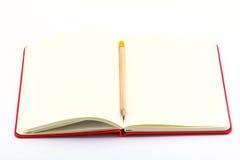Livro branco aberto Imagens de Stock Royalty Free
