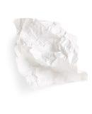 Livro Branco amarrotado Foto de Stock