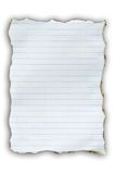Livro Branco da queimadura Imagem de Stock Royalty Free