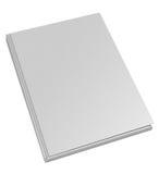 Livro branco da tampa dura Imagem de Stock Royalty Free