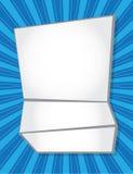 Livro Branco dobrado Fotografia de Stock