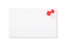 Livro Branco e prego vermelho do impulso Foto de Stock