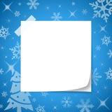 Livro Branco no Natal azul do fundo Foto de Stock Royalty Free