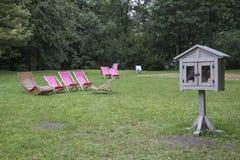 Livro-cabine de madeira Fotos de Stock Royalty Free