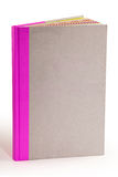 Livro cinzento da tampa de cartão - trajeto de grampeamento Fotos de Stock Royalty Free