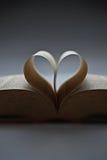 Livro com a forma do amor Foto de Stock Royalty Free