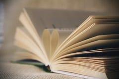 Livro com luz suave Fotos de Stock